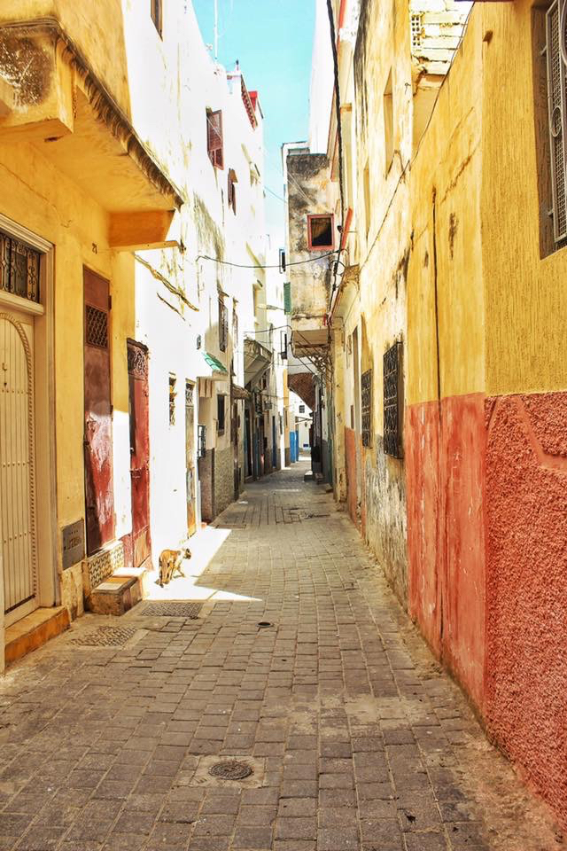 NARROW STREET IN THE MEDINA, TANGIER