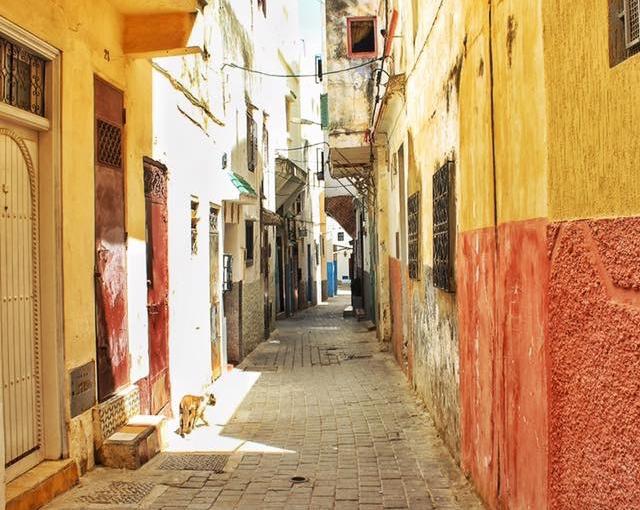NARROW STREET IN THE MEDINA,TANGIER