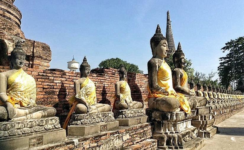 EXPLORING ANCIENT RUINS OF AYUTTHAYA,THAILAND